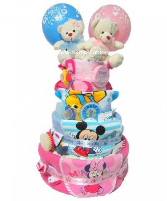 Πάνες Κέικ για Δίδυμα Αγόρι&Κορίτσι, 90€
