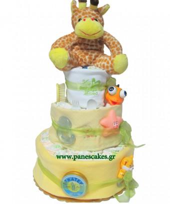 Πάνες Κέικ Καμηλοπάρδαλη, Diaper Cake