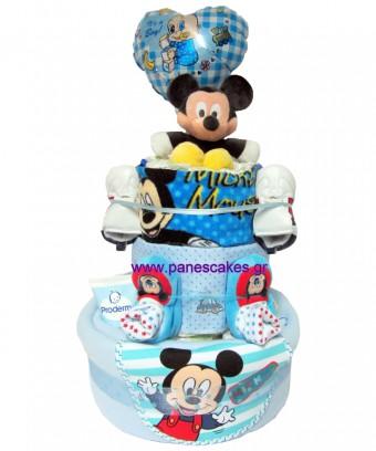 Πάνες Κείκ 3όροφος Μίκι Μάους, Diaper Cake