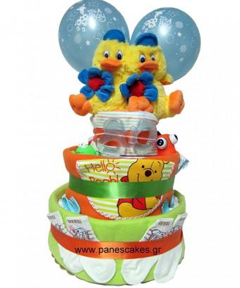 Δίδυμα, Δώρο για Νεογέννητο, Diaper Cake