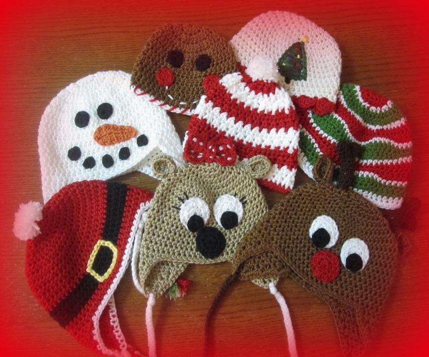 ff702367948 Πλεκτά Χριστουγεννιάτικα Σκουφάκια