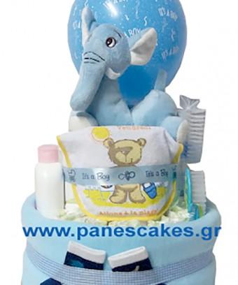 Diaper Cake Σιέλ Ελεφαντάκι