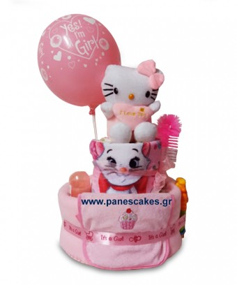 Diaper Cake Hello Kitty 2όροφη