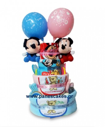 Diaper Cake, Δίδυμα, Μίκι & Μίνι
