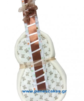 Κιθάρα με πάνες Μπεζ-Καφέ