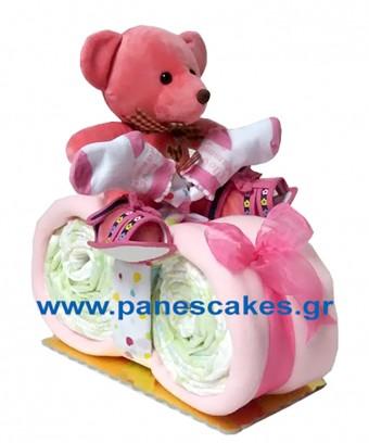 Μηχανάκι Ροζ με παπουτσάκια