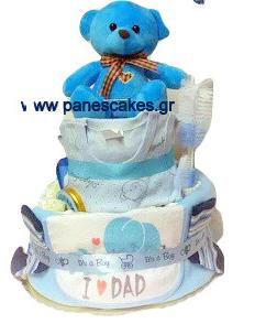 Diaper Cake Σιελ Αρκουδάκι (νέο)