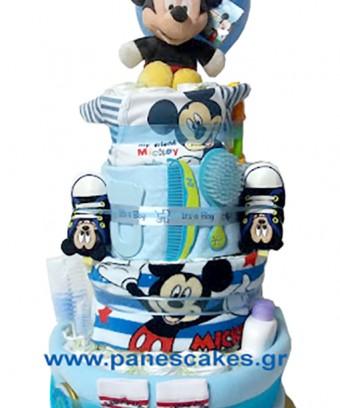 Diaper Cake Μίκι Μάους 4όροφος